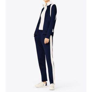 Tory Burch Sport Color-Block Track Jacket Blue